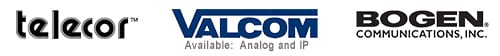 Paging: We use components of uncompromising quality and are an authorized dealer of the following manufacturers: Bogen Communications, Telecor, Valcom