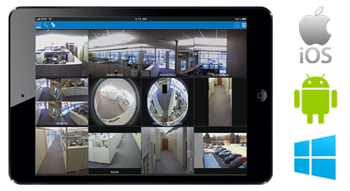 Security Cameras: Different camera views as seen on your iPhone, Android or Windows phone.